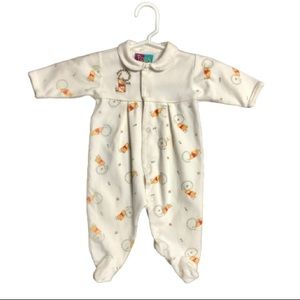 DISNEY Baby Winnie the Pooh Footed Outfit Pajamas
